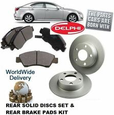 FOR LEXUS IS220D IS250 05-10 REAR DELPHI SOLID BRAKE DISCS SET AND DISC PADS KIT