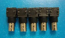 AMP 414352-2 BNC 50 Ohm Female Right Angle Jack PCB Mount, 5pcs