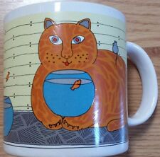 Kitty Katfish Cat Fish Mouse Coffee Japan Orange Tabby Mug Animal Print Cup 10oz