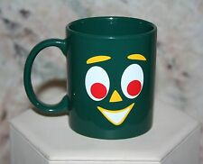 GUMBY COLLECTIBLE CERAMIC COFFEE MUG CUP GREEN CUTE FACE! 2011 PREMA TOYS NEW