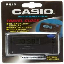 Casio Digital Travel Alarm Clock, 12/24 Hour Format, Snooze, Light, PQ13-1K