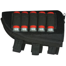 Fox Tactical Left Handed Butt Stock Shotgun Cheek Rest Shell Pouch BLACK