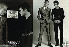 Publicité advertising 1999 (2 pages) Haute couture costume Homme Versace
