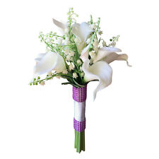 "8"" bouquet - Lily of the Valley and Real Touch Calla Lily Bouquet"
