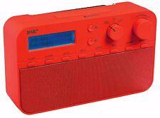 Konig DAB + FM Radio Portátil / Despertador - ROJO