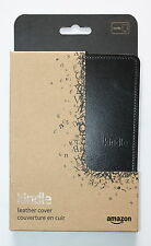 AMAZON KINDLE LEATHER PROTECTIVE COVER - BLACK - FOR KINDLE 3G + Wi-Fi, Wi-Fi