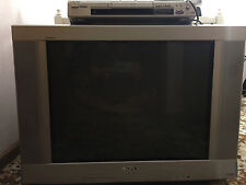 Sony 68cm CRT Trinitron 4:3  With DVD player( with rem) & Hd Topbox ( Tv Recep)