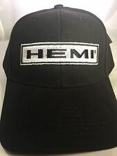 New Black HEMI Emblem Logo Hat Cap Brushed MOPAR Dodge Charger Challenger