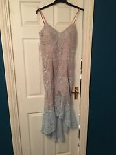 Jarlo Anya Blue Nude Lace Midi Maxi Dress Occasion Wedding BNWT 12