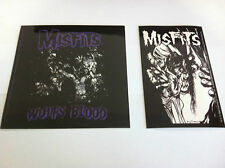 THE MISFITS 2-Pack of Stickers Wolfs Blood & Eyeball NEW OFFICIAL Danzig