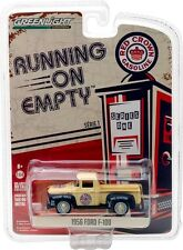Greenlight Running On Empty Series 1 1956 Ford F100 Pick Up Red Crown Gas
