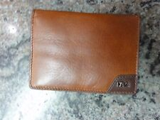 NAVA DESIGN PERSONAL BROWN LEATHER FOLDING WALLET SMALL