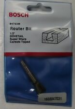 "Bosch 84703M Router Bit 1/2"" Dovetail 14Deg 1/4"" Shank Carbide Tipped USA"