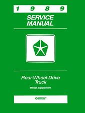 1989 Dodge Truck Diesel Engine Shop Service Repair Manual Book Guide OEM