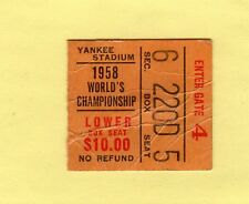 GREATEST GAME EVER 1958 WORLD CHAMPIONSHIP BALT COLTS @ NY GIANTS TICKET STUB