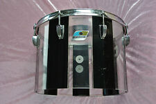"RARE 70's LUDWIG 14"" CONCERT TOM PATTERN F BLACK & CLEAR for YOUR DRUM SET! T885"