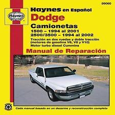 Dodge Camionetas: 1500 (1994 al 2001) y 25003500 (1994 al 2002) (Haynes en Espan