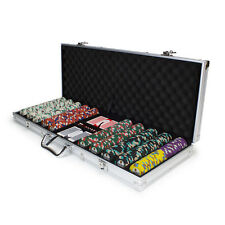 New 500 Showdown 13.5g Clay Poker Chips Set with Aluminum Case - Pick Chips!