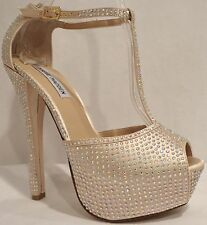 Steve Madden Anglyna Champ Multi Womens Shoes Open Toe  Platform Pump 8.5