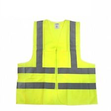 High visibility W/ Pockets Neon Green Safety Vest Reflective Strips ANSI Large