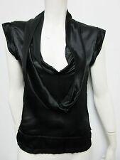 Nwt $934 Ysl, Yves Saint Laurent Sleeveless V-neck Women's Black Blouse Top 40/4