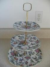 3 TIER Midwinter Stylecraft CHINTZ CHINA SERVER Staffordshire England vintage