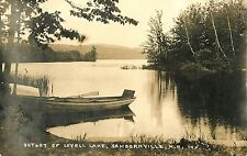 A View of the Outlet of Lovell Lake, Sanbornville NH RPPC 1930