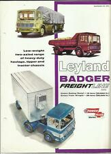 LEYLAND BADGER TRUCK LORRY SALES BROCHURE 1966
