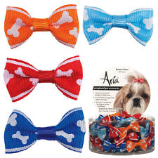 """Aria - Canister of 48 Barrettes - Romeo - Dog Puppy Grooming Bow - 1 1/4"""""""