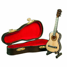 Sky New Mini Guitar Classic Natural Finish Acoustic Miniature Guitar with Stand
