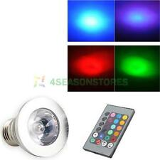 E27 3W 16 Color Changing Magic RGB LED Light Bulb Lamp 85-265V+IR Remote Control