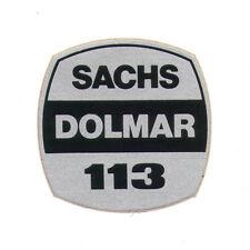 Sachs-Dolmar 113 Original Typ Aufkleber f. Kettensäge Motorsäge chainsaw sticker