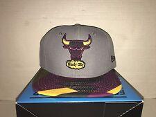 New Era NY Chicago Bulls Bordeaux  Air Jordan Retro 7 VII Snapback Hat Cap LE