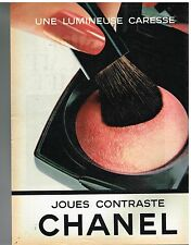 Publicité Advertising 1981 Cosmetique Maquillage Joues contraste de Chanel