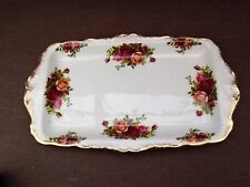 ROYAL ALBERT OLD COUNTRY ROSE  RECTANGULAR.  SANDWICH  PLATE.