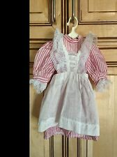 American Girl Doll Samantha Retired Birthday Party Dress & Pinafore ONLY PC