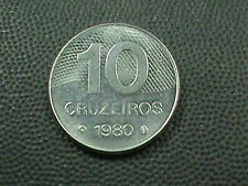 BRAZIL    10 cruzeiros   1980   BRILLIANT  UNCIRCULATED