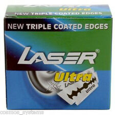 50 LASER Ultra Double Edge Safety Razor Blades with New Triple Coated Edges
