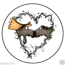 Moose Love Moose Kissing Custom Envelope Seal/Sticker