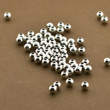 100pc, 4mm Sterling Silver Beads, Seamless, High Polished, Spacers, 925, Round