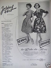 PUBLICITÉ 1959 JOPPY LA ROBE DU MOIS TROMBONE ROBE LOVELINE BILLET - ADVERTISING
