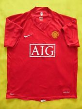 4/5 MANCHESTER UNITED 2007/2009 ORIGINAL FOOTBALL JERSEY SHIRT NIKE SIZE XL