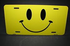 SMILEY EMOJI METAL NOVELTY CAR LICENSE PLATE TAG HAPPY FACE EMOTICON