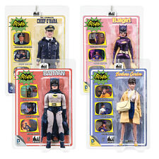 Batman 66 Classic TV Show Mego Style 8 Inch Figures Series 5: Set of all 4