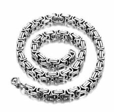 Men's Silver 316L Stainless Steel 5mm Byzantine Necklace Chain 24INCH GIFT