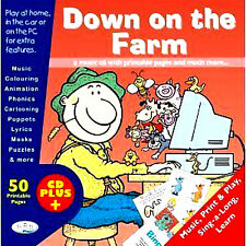 Childrens NEW CD Down on the farm CD + PLUS PRINTABLE PAGES FOR YOUR PC