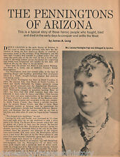 Pennington Family History & Genealogy of Arizona
