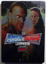 WWE Smackdown Vs. Raw 2009 Steelbook Sony PlayStation 2 PS2