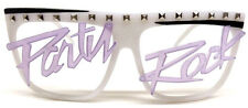 GLOW IN THE DARK PARTY ROCK WAYFARER SUNGLASSES LMFAO NERD COSTUME FLAP TOP RAVE
