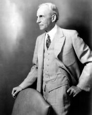 HENRY FORD PORTRAIT 8X10 PHOTO FORD MOTOR COMPANY 1934